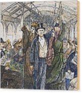 Streetcar, 1876 Wood Print