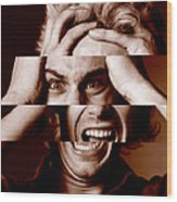 Stressed Man Wood Print by Victor De Schwanberg