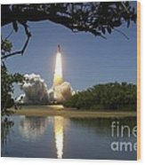 Sts-121 Launch Wood Print