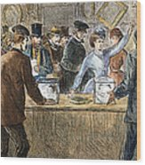 Suffrage: Woodhull Sisters Wood Print