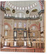 Suleymaniye Mosque Interior Wood Print