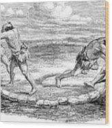 Sumo Wrestling, 1853 Wood Print