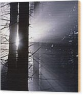 Sun Breaking Through Mists Wood Print by Ulrich Kunst And Bettina Scheidulin