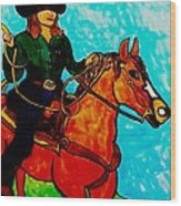 Sunday Afternoon Cowgirl Wood Print