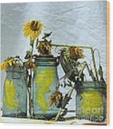 Sunflowers .helianthus Annuus Wood Print