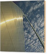 Sunlight Beams On The Gateway Arch Wood Print