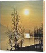 Sunlight Over A Lake Wood Print