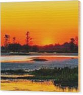 Sunrise Circle B Bar Reserve Wood Print