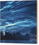 Sunrise In Blue Wood Print