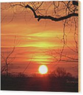 Sunrise In Tennessee Wood Print