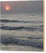 Sunrise Over Arabian Sea Hawf Protected Wood Print