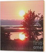 Sunset Ambience Wood Print