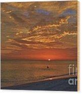 Sunset Ami Wood Print