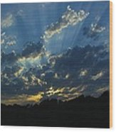 Sunset Blues Wood Print