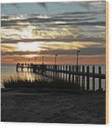 Sunset Cape Charles Virginia Wood Print