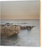 Sunset On The Mediterranean Wood Print by Joana Kruse