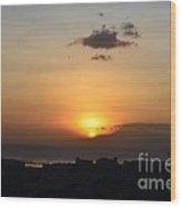 Sunset Upon The Ocean  Wood Print