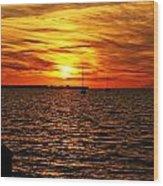 Sunset Xxxii Wood Print