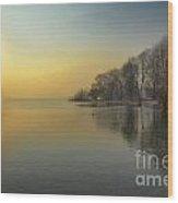 Sunshine Over A Lake Wood Print