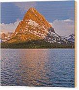 Swiftcurrent Lake Panorama Wood Print