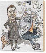 T. Roosevelt Cartoon Wood Print by Granger