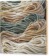 Tagliolini Pasta Wood Print