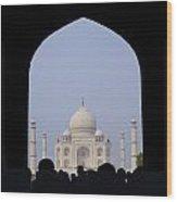 Taj Mahal, Agra India Wood Print