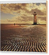 Talacre Lighthouse Wood Print