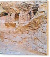 Target - Bulls Eye Anasazi Indian Ruins Wood Print