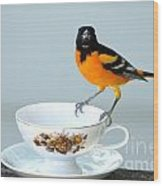 Tea Anyone Wood Print