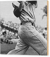 Ted Williams Of The Boston Red Sox, Ca Wood Print by Everett