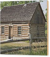 Teddy Roosevelt's Maltese Cross Log Cabin Wood Print