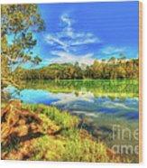Telaga Warna Lake Wood Print