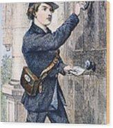Telegraph Messenger, 1869 Wood Print