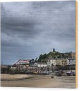 Tenby Harbour From North Beach 2 Wood Print