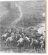 Texas: Cattle Drive, 1867 Wood Print