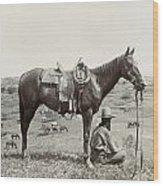 Texas: Cowboy, C1910 Wood Print