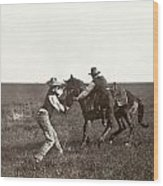 Texas: Cowboys, C1908 Wood Print