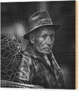 Textile Merchant Wood Print