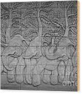 Thai Style Handcraft Of Elephant Wood Print