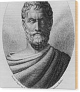 Thales, Ancient Greek Philosopher Wood Print by Photo Researchers, Inc.