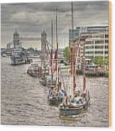 Thames Barges Tower Bridge 2012 Wood Print