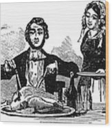 Thanksgiving, 19th Century Wood Print