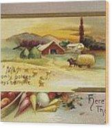 Thanksgiving Card, C1910 Wood Print
