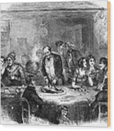 Thanksgiving Dinner, 1850 Wood Print