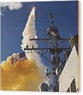 The Aegis-class Destroyer Uss Hopper Wood Print