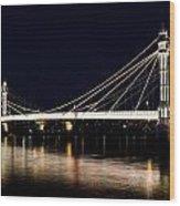 The Albert Bridge London Wood Print
