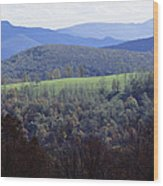 The Allegheny Front, North Fork Wood Print by Raymond Gehman