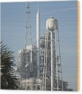 The Ares I-x Rocket Is Seen Wood Print