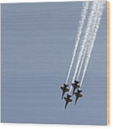 The Blue Angels Perform Aerial Wood Print